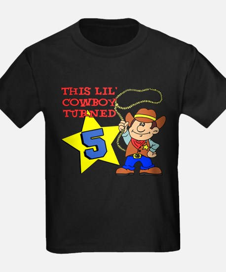 This Little Cowboy Turned 5 T-Shirt