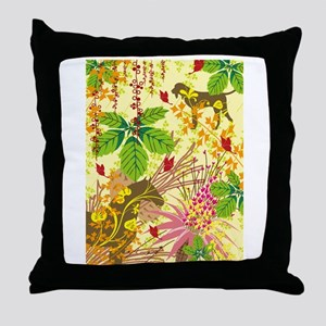 Animals and plants art Throw Pillow