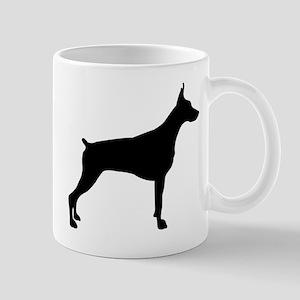 American pit bull terrier silhouette Mugs