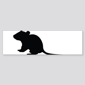 Rat silhouette Bumper Sticker