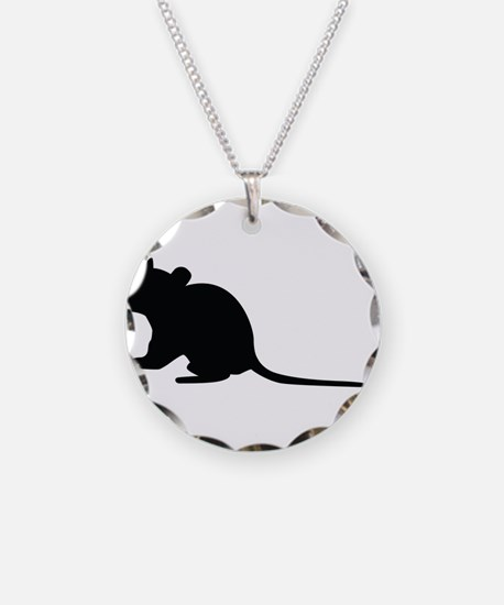 Rat silhouette Necklace