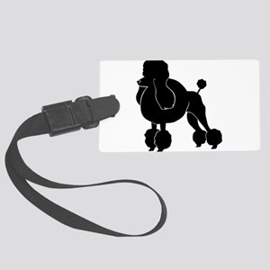 Groomed Dog silhouette Large Luggage Tag