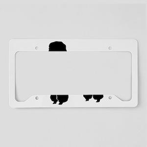 Groomed Dog silhouette License Plate Holder
