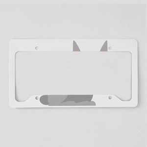 Cute Rabbit cartoon License Plate Holder