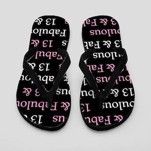 13 & Fabulous Birthday Flip Flops
