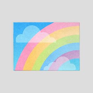 Pastel Rainbow 5'x7'Area Rug
