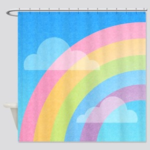 Pastel Rainbow Shower Curtain