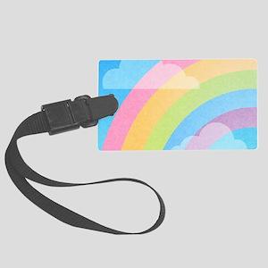 Pastel Rainbow Luggage Tag
