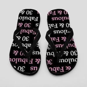 30 & Fabulous Birthday Flip Flops