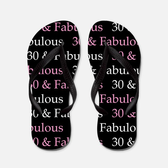 30 & Fabulous Birthday Flip Flops