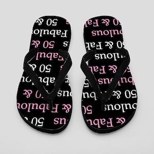 50 & Fabulous Birthday Flip Flops