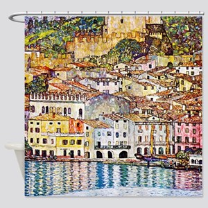 Klimt - Lake Garda Shower Curtain