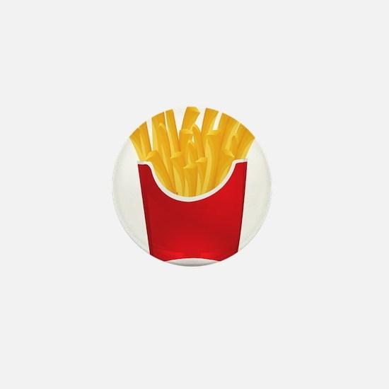 French fries art Mini Button