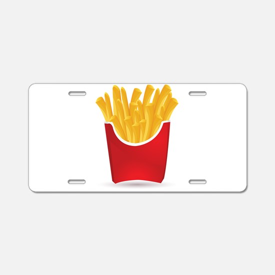 French fries art Aluminum License Plate