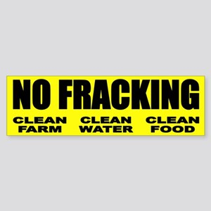 No Fracking Clean Farm Clean Water Clean Food Bump