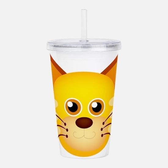 Cat face cartoon Acrylic Double-wall Tumbler