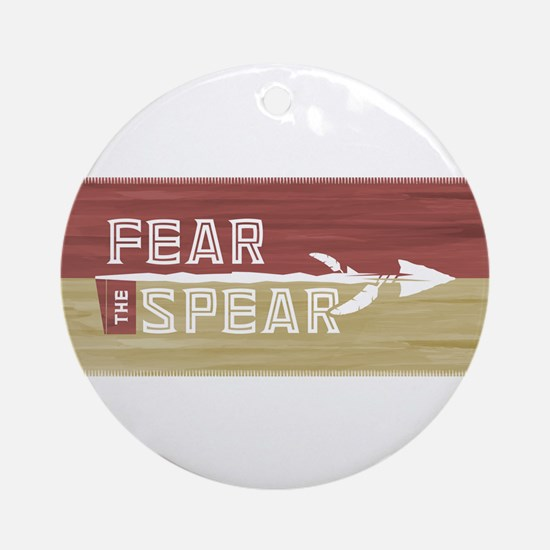 Fear the Spear Round Ornament