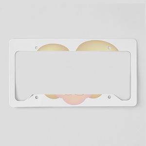 Bunny face cartoon License Plate Holder
