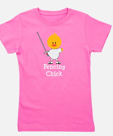 Cute Fencer Girl's Tee