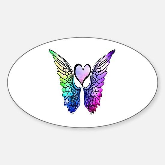 Cute Angels wings Sticker (Oval)
