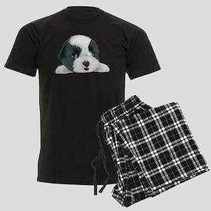 Bolognese dog Men's Dark Pajamas