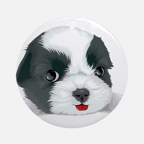 Bolognese dog Round Ornament