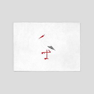 Ibis clip art 5'x7'Area Rug