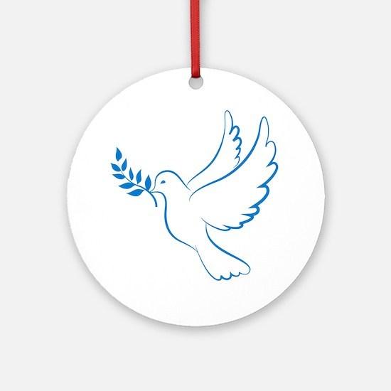 Dove of peace Round Ornament