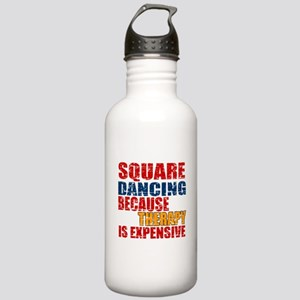 Square dancing Because Stainless Water Bottle 1.0L