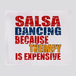 Salsa dancing Because Therapy Is Exp Throw Blanket