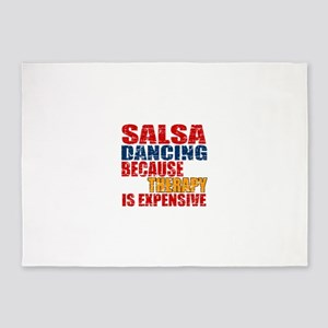 Salsa dancing Because Therapy Is Ex 5'x7'Area Rug