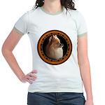 Pomeranian Dog Jr. Ringer T-Shirt Womens & Girls T