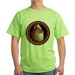 Pomeranian Dog Green T-Shirt