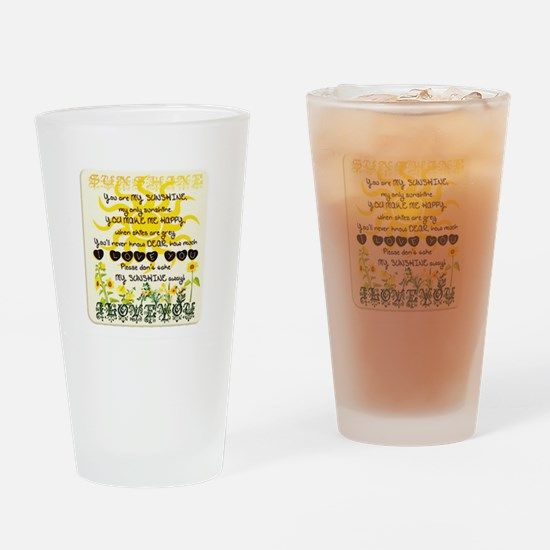 Unique Sunshine Drinking Glass