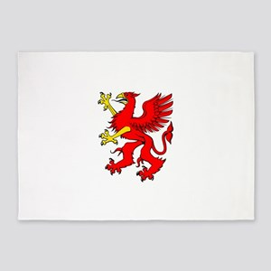 Red griffin clip art 5'x7'Area Rug