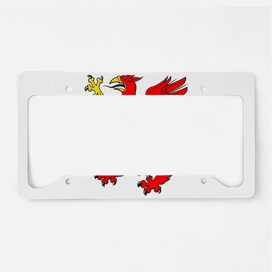 Red griffin clip art License Plate Holder
