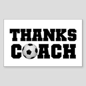 Soccer Thanks Coach Rectangle Sticker