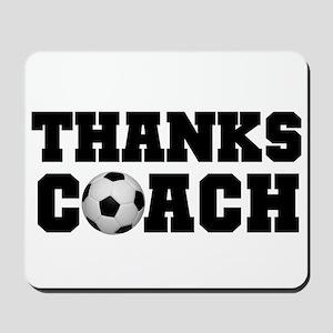 Soccer Thanks Coach Mousepad