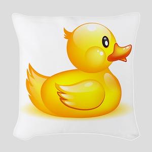 Rubber duck Woven Throw Pillow