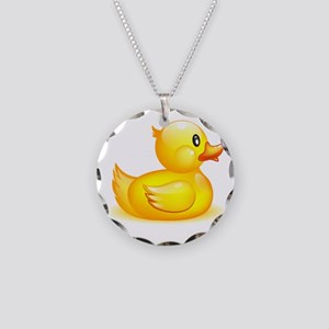Rubber duck Necklace Circle Charm
