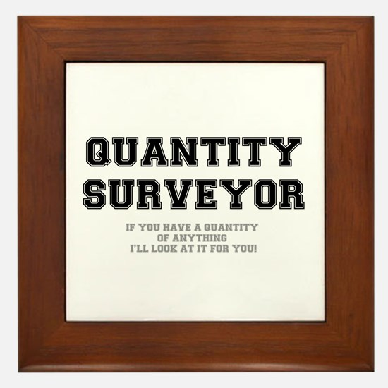 QUANTITY SURVEYOR - ILL LOOK AT IT FOR Framed Tile