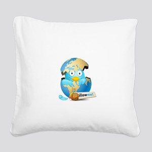Twitter world Square Canvas Pillow
