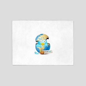 Twitter world 5'x7'Area Rug