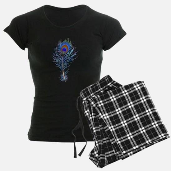 Peacock feather watercolor Pajamas