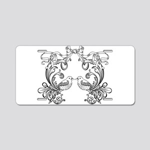 European pattern line art Aluminum License Plate