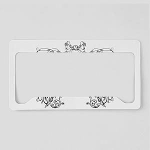 European pattern line art License Plate Holder
