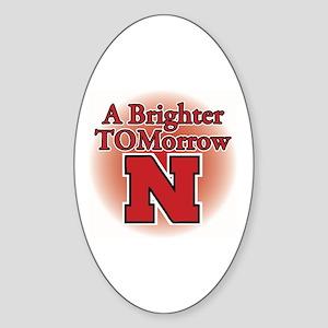 A Brighter TOMorrow for Nebraska Oval Sticker