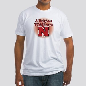 A Brighter TOMorrow for Nebraska Fitted T-Shirt