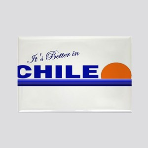 Its Better in Chile Rectangle Magnet