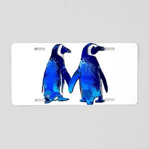 Tux love Aluminum License Plate